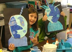 Art with Mrs. Seitz: Picasso Blue Portraits 1st grade art