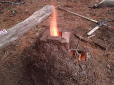 How to build a Rocket Stove! Awesome way to cook outdoors or heat your home. Much more efficient than a wood stove!
