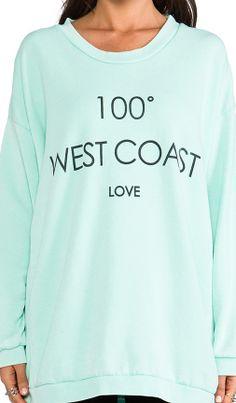 Cute sweatshirt - west coast love http://rstyle.me/n/gdr5rnyg6