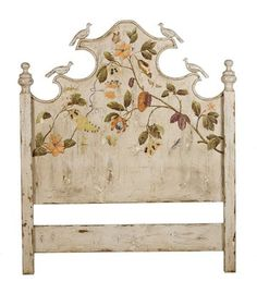 Delightful unique Headboard with carved birds.King or Queen $899 at janice buck