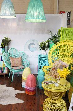 Bright cane furniture coloured cane furniture, bright cane