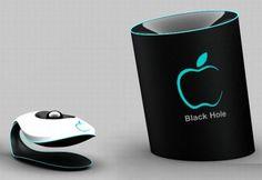 Black Hole holographic concept phone