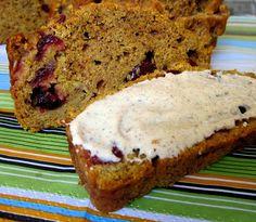 Grandma's Pumpkin Cranberry Bread
