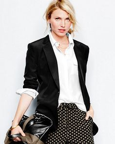 """""""A black blazer is the ultimate basic and a fresh alternative to a cardigan. Opt for a longer menswear style — it's effortless and universally flattering. Pair it with jeans and a white t-shirt for a polished yet classic look."""" - Anne Keane, Lucky Magazine"""