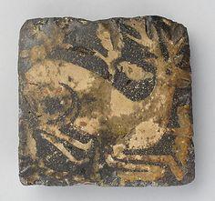 Tile with kneeling hart floor tile, mediev tile