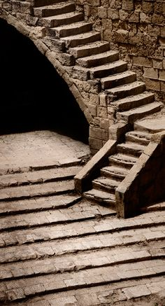 malta stone, stone stair