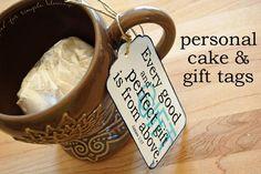 Individual cake gift idea! LOVE
