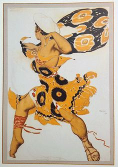 Art of the Ballet Russes :: costume design by Leon Bakst
