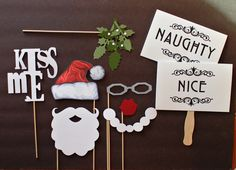 holiday parties, photo booth props, photobooth photo, photo props, holiday photo