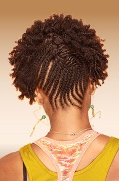 Twists and Curls in the front! | Black Women Natural Hairstyles