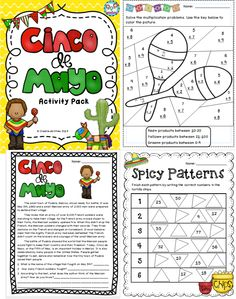 Cinco de Mayo MEGA pack!! Reading, writing and math activities! Tied into the common core! $ #cincodemayo #cultureactivities #math
