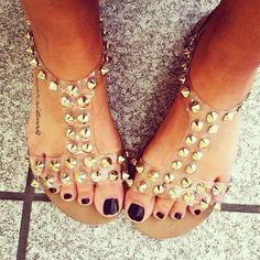 studded sandals. jeffrey campbell.