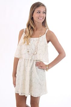 Sweet Summertime Dress, ivory $47 www.themintjulepboutique.com