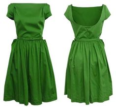 Green  fashion, beauti dress, vivienn westwood, style, colors, dresses, beauti cloth, vivienne westwood, green dress