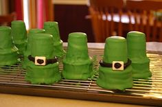 Leprechaun Hat Ice Cream Cones