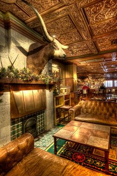 Driskill Hotel Bar in Austin, TX.