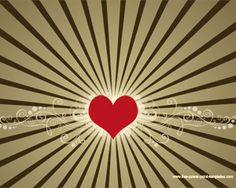 Free Heart Powerpoint Design with radial effect and heart in the slide design