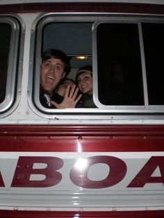 Nick Pitera and Kelly Johnson on a bus from Kelly's MySpace 2008