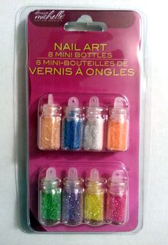 dollar store nail art glitter package - just $1