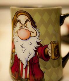 GRUMPY!  Yes, until I've had my coffee!