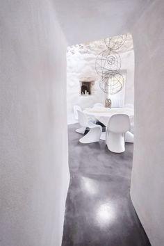white Panton S chairs
