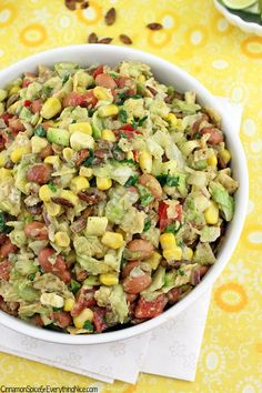 Tex-mex Chopped Salad with Honey Lime Dressing