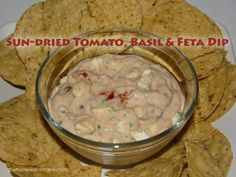 Sun-dried Tomato, Basil and Feta Dip