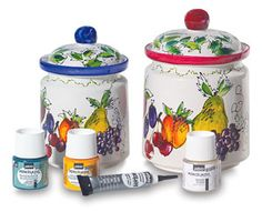 Pebeo Porcelaine 150 - Water-based paints can be applied to porcelain, crockery, terra-cotta, metals, ceramics, glass, etc.