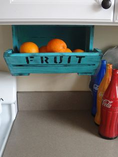 The ORIGINAL caBINet Kitchen Hanging Fruit Basket Bin Crate Snack Supply Office Pantry Utility Craft Room Pantry Closet Organizer. $29.99, via Etsy.