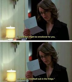 """When we were reminded of the way to Liz's heart.   30 Best Jokes From """"30 Rock"""""""