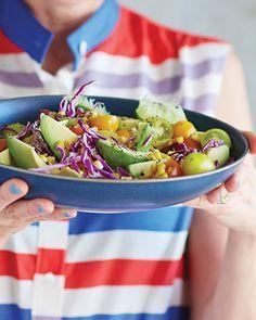 Grilled Corn Salad with Avocado & Honey | Sweet Paul Magazine corn salad