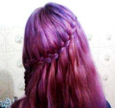Cabelo Roxo Galaxy  Trança Cascata hair purple  Luuh Stephanie