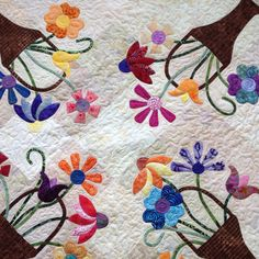 Pattern design by Pat Wys (www.silverthimblequilt.com). This is an alternate color way than the original from Pat's book Spotlight on Neutrals. This quilt was done by Sara