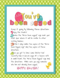 You've been egged! This is so cute.