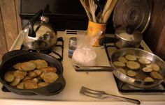 Fried Potatoes, verbatim from Melting Pot of Mennonite (1) From: Kate's In A Pickle, please visit