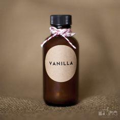 gift, wedding favors, diy vanilla, christmas, bottles