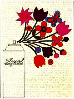 Ad illustration and design by Arnold Varga - Lysol - 1969.