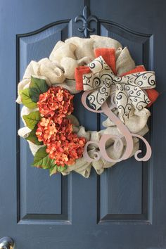 Fall+wreath+Monogram+Wreaths+for+door+++Wreath++by+OurSentiments,+$90.00