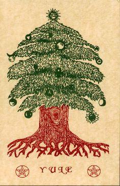 Winter Solstice:  Yule Tree.
