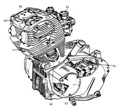 Harley Davidson Parts List further Bikes together with Harley Crankcase Diagram together with Plans together with Bsa Motorcycle Engine Diagram. on honda 250 305cc online engine repair guide by bill silver