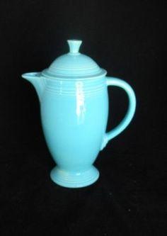 Vintage Homer Laughlin Fiestaware Turquoise Coffee Pot