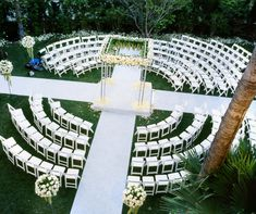 Symbolize unity and the joining of two families by arranging your ceremony seating in the round. Colin Cowie Weddings