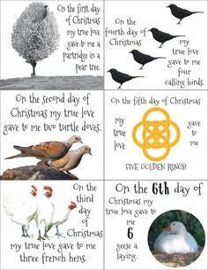 12 days of Christmas Printable and ideas