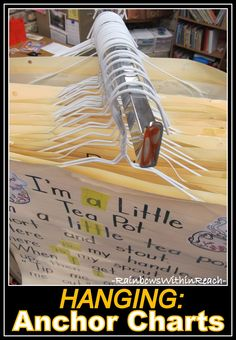 Organize your Anchor Charts by Hanging them on Hangers.