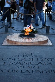JFK's eternal flame was designed after the eternal flame at the Tomb of the Unknown Soldier in Paris.   Jacqueline Kennedy remembered the flame from her state visit to France.