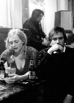 Kate Winslet and Jim Carrey.