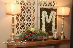 Meg and Tommy - entrance decor - southern wedding