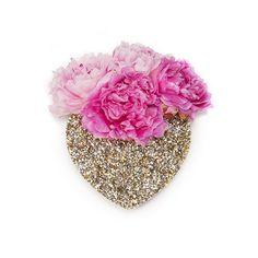 table centrepieces, wall vase glitter, sparkl heart, bridal table, heart vase