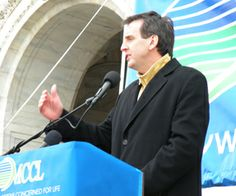 Former Minnesota Governor Tim Pawlenty at Pro - LIFE rally, speaking at the capitol in Saint Paul. The 39th Governor's wife is Mary. Pawlenty's have 2-daughters, Anna & Mara, both have attended Minnehaha (Christian) Academy, in South Minneapolis.
