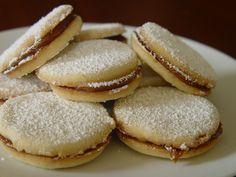 Alfajorres from Argentina with dulce de leche